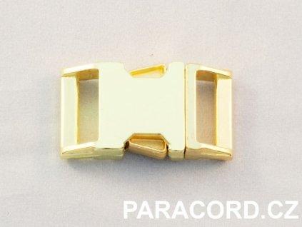 Spona trojzubec - kovová (16mm) - zlatá barva