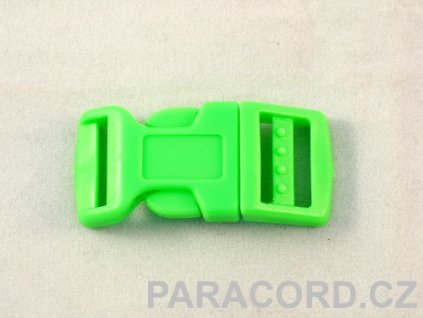 spona trojzubec - neon zelená (16mm)
