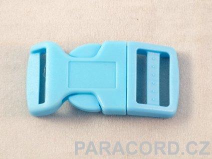 spona trojzubec - bledě modrá (20mm)