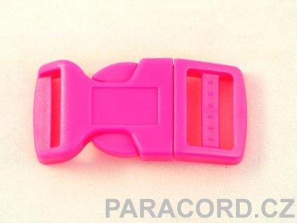 spona trojzubec - neon růžová (20mm)