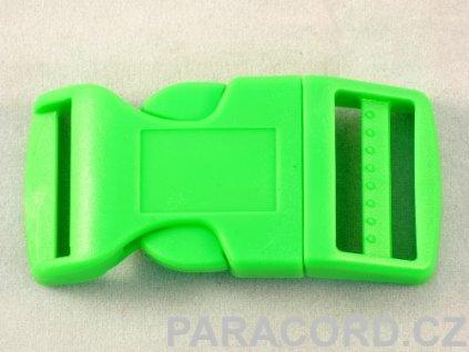 spona trojzubec - neon zelená (25mm)