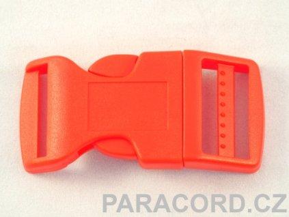 spona trojzubec - červená (25mm)