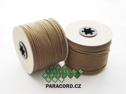 TYP II. Paracord 425 - špulka 50m SVĚTLE HNĚDÁ