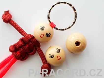 Kulička (korálek) dřevěná - panenka