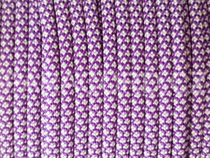 Paracord 550 - PURPLE/SILVER DIAMONDS