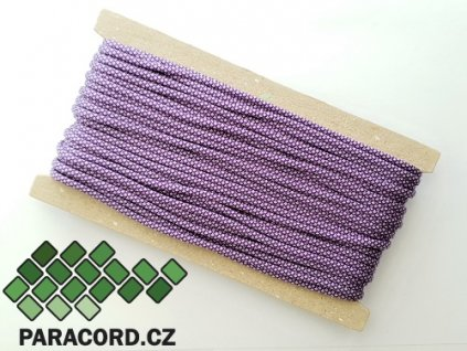 Paracord 550 - karta 25m PURPLE/SILVER DIAMONDS
