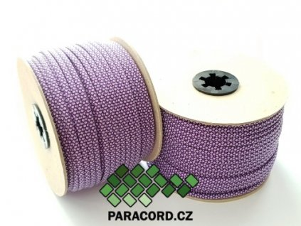 Paracord 550 - špulka 50m PURPLE/SILVER DIAMONDS