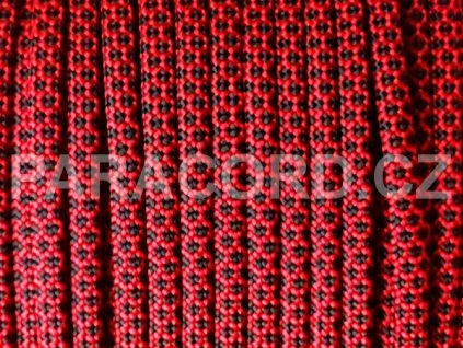 Paracord 550 - RED DIAMONDS REVERSED