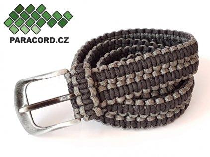 Paracord survival opasek - ČERNÁ/ŠEDOZELENÁ (120cm)