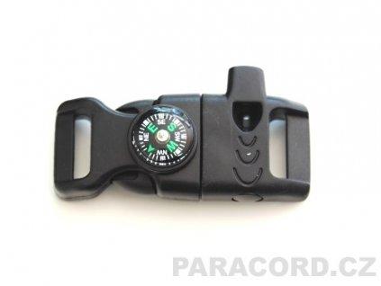 Survival trojzubec s křesadlem a kompasem (II. jakost)