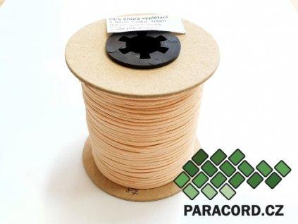 PES šňůra vyplétací 1,5mm (100m) - smetanová