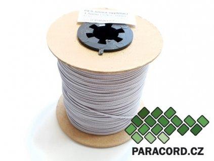 PES šňůra vyplétací 1,5mm (100m) - stříbrnošedá