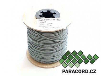 Paracord micro 1mm špulka 100m - ŠEDÁ