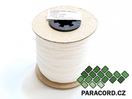 Paracord micro 1mm špulka 100m - BÍLÁ