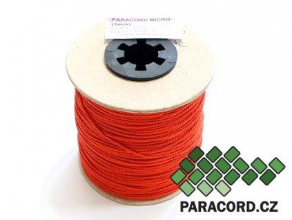 Paracord micro 1mm špulka 100m - ČERVENÁ