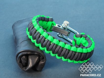 Survival paracord náramek GREEN ANTRACIT (vel. S/M)