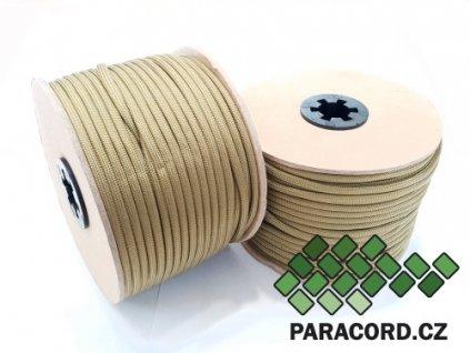 Paracord 550 - špulka 50m ZELENOHNĚDÁ