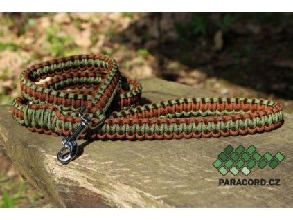 Paracord vodítko Kobra (vlastní barvy, délka)