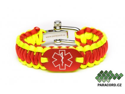 Survival paracord náramek ZDRAVOTNÍK - červený