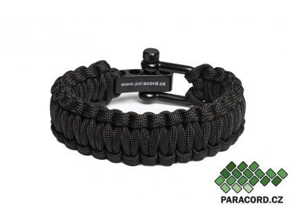 Survival paracord náramek TACTICAL BLACK