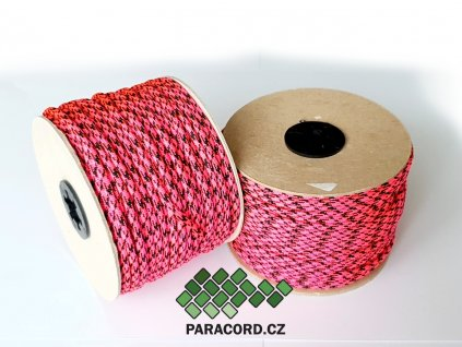 Paracord 550 - špulka 50m PINK PANTER