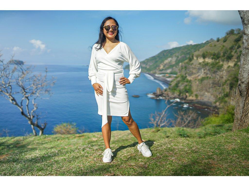 Šaty BOSS bílé (2.kolekce)