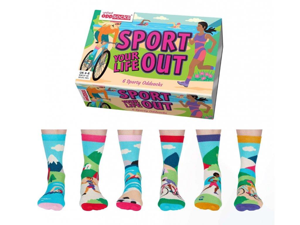 Veselé ponožky Sport Your Life Out veľ.: 37-42