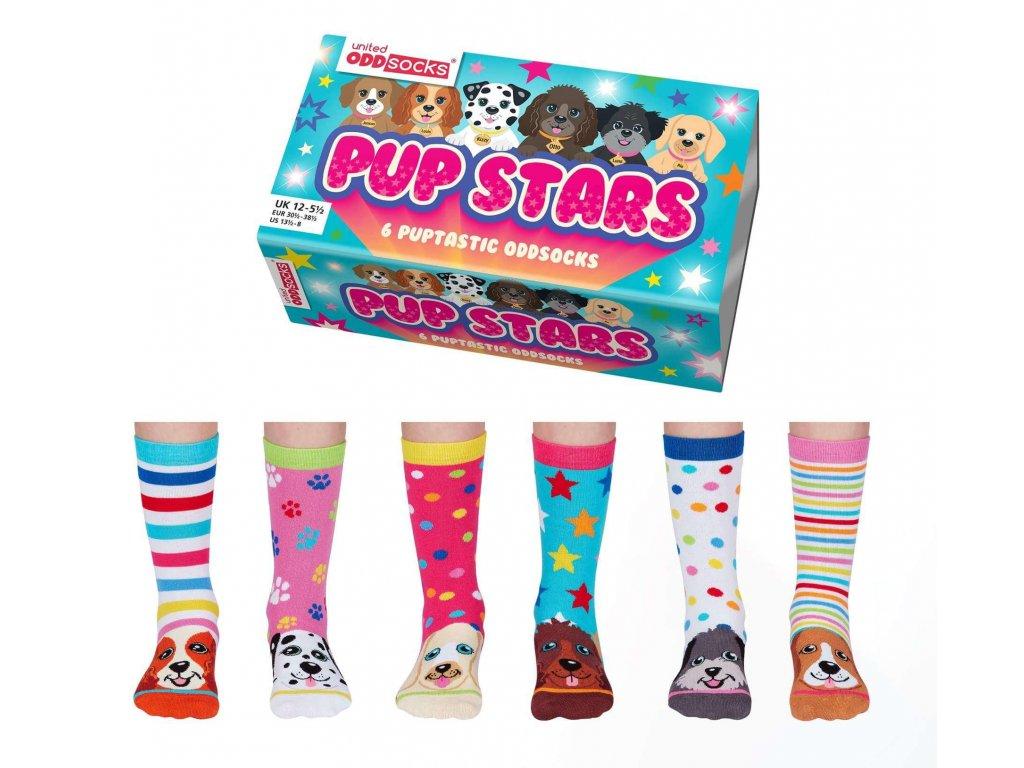 Veselé ponožky Pup stars veľ.: 31-39