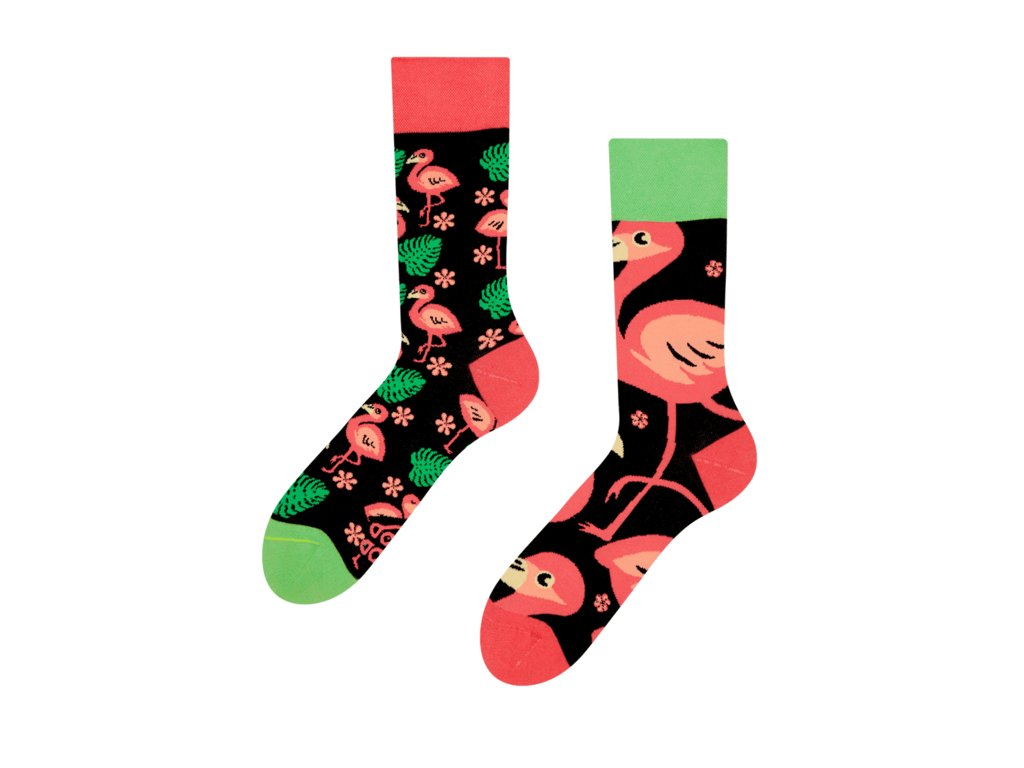 Veselé ponožky Plameniaky