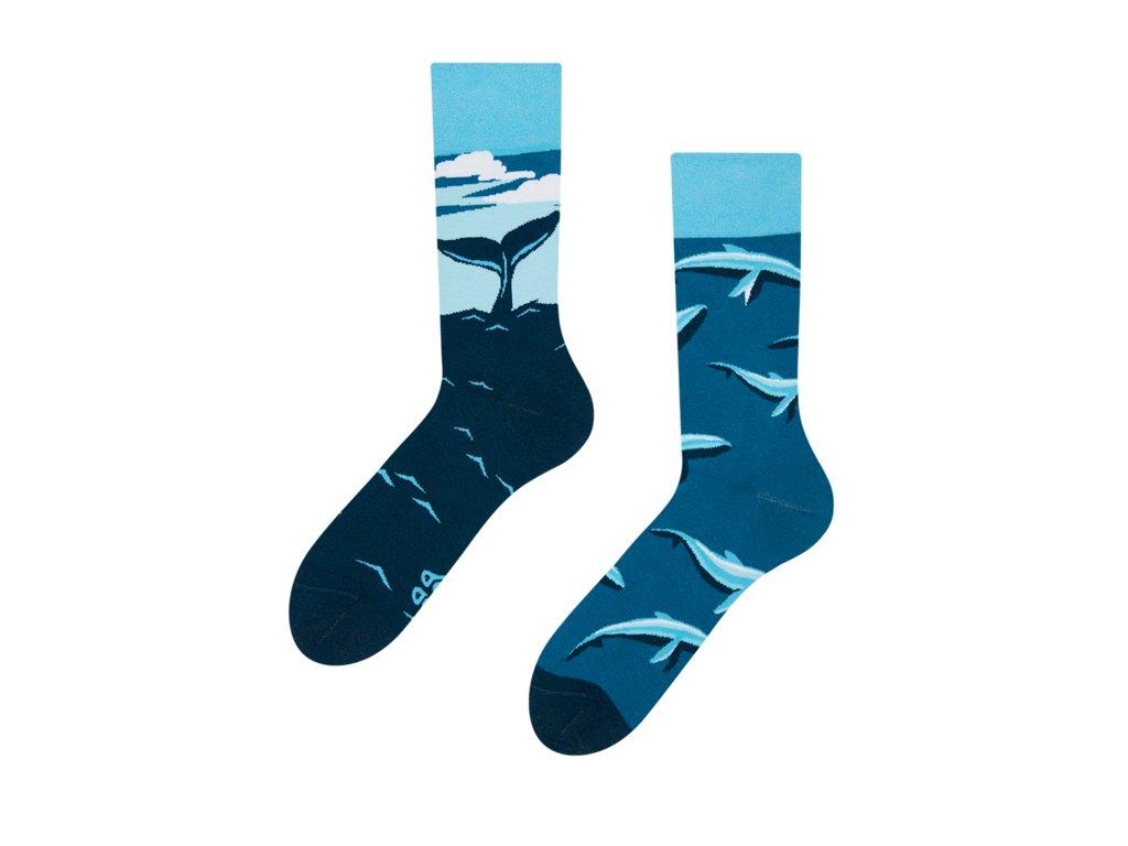 Veselé ponožky Veľryba