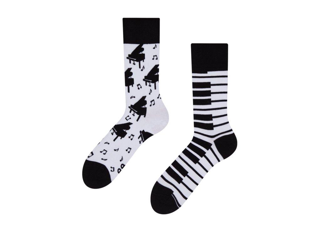 Veselé ponožky Klavír