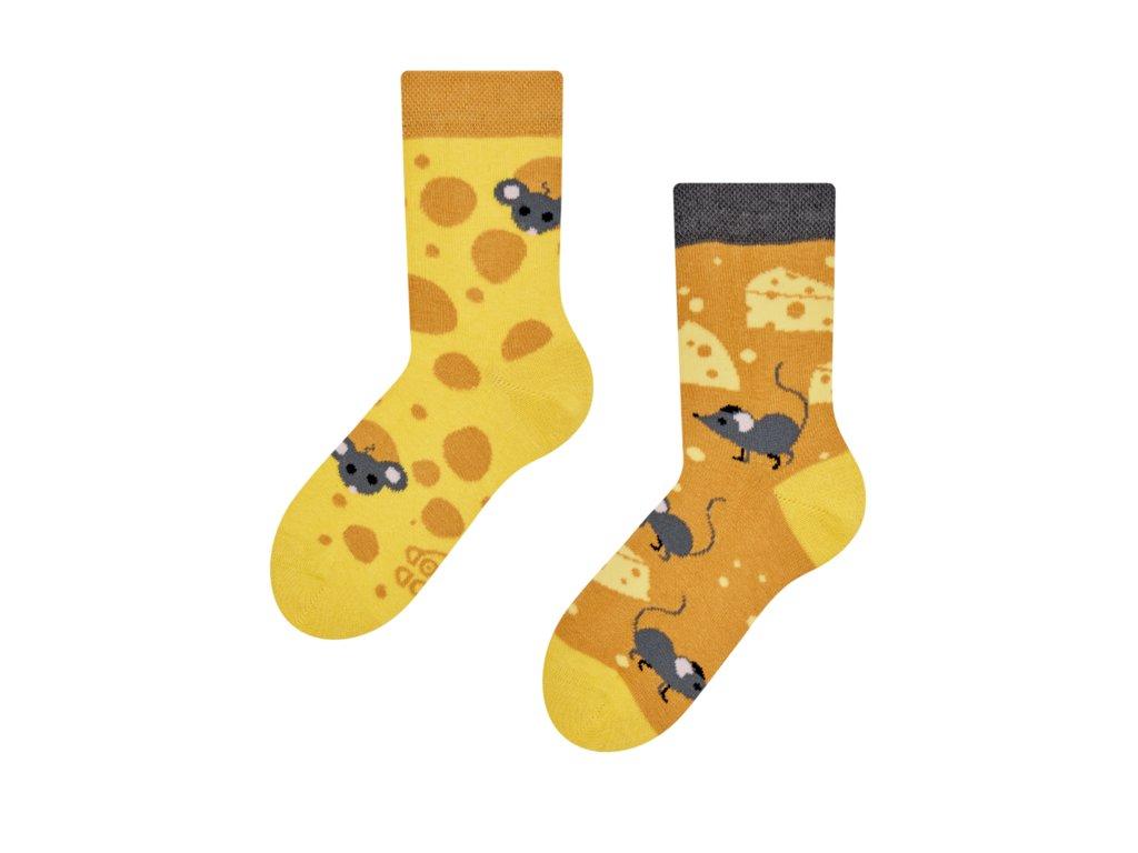 Detské veselé ponožky Syr