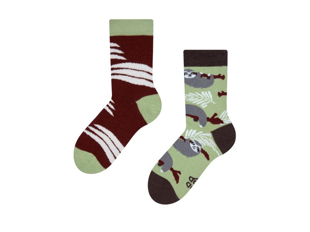 Detské veselé ponožky Leňochod