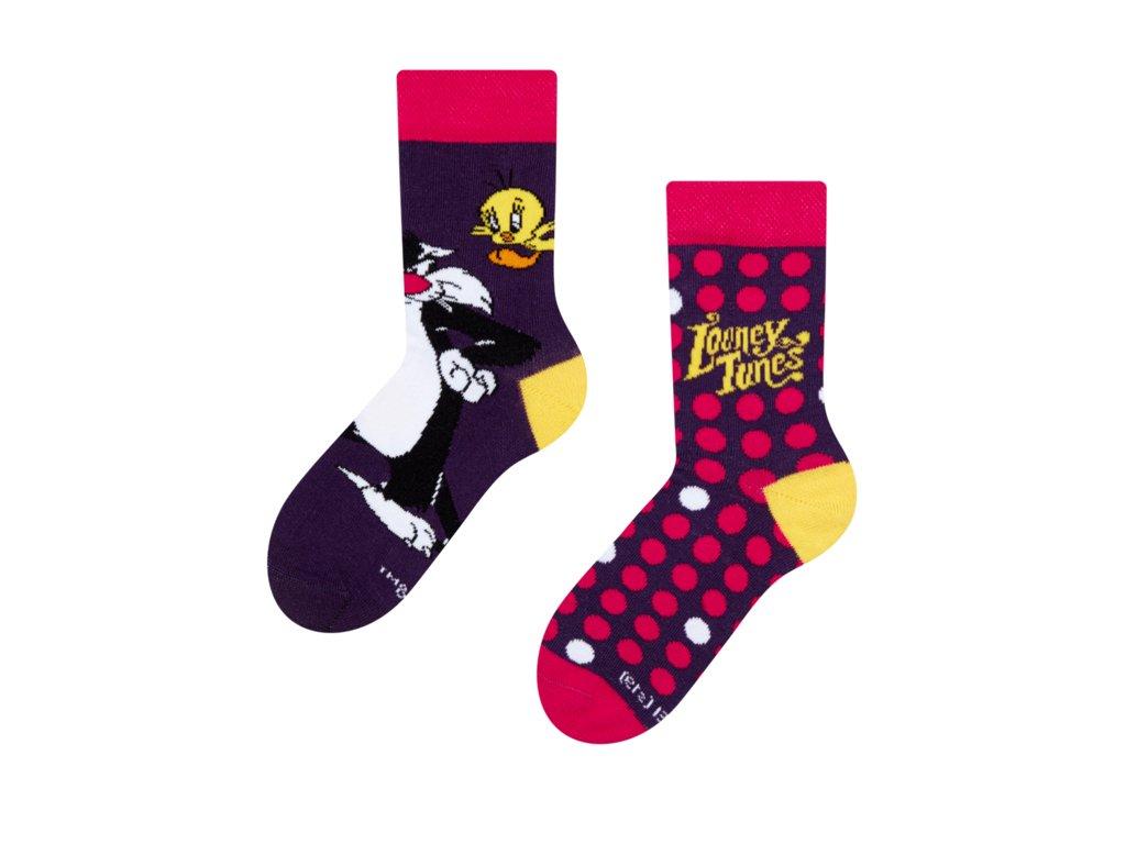 Detské veselé ponožky Looney Tunes ™ Sylvester a Tweety