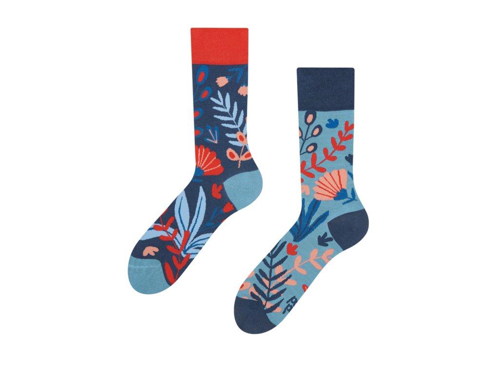 Veselé bambusové ponožky Korál