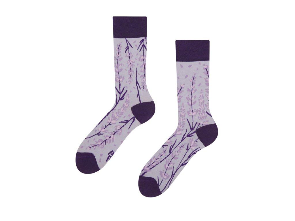 Veselé bambusové ponožky Levanduľa