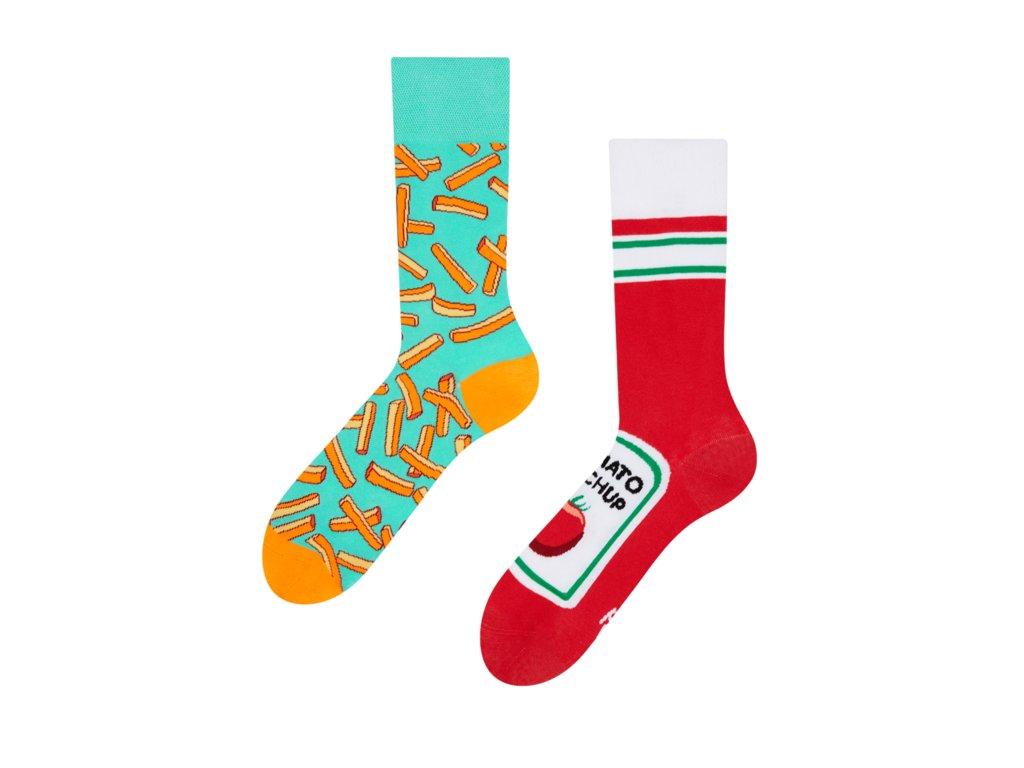 Veselé ponožky Hranolky s kečupom