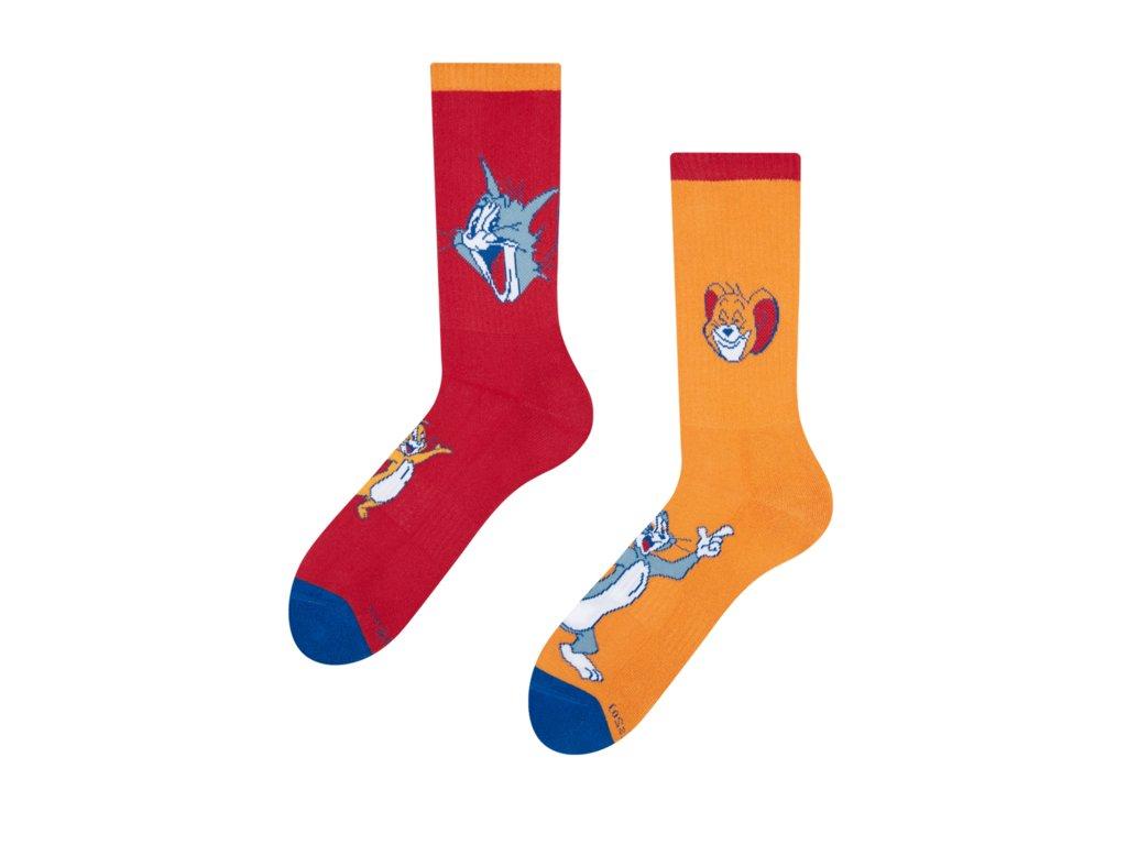 Veselé športové ponožky Tom a Jerry ™ Hviezdy