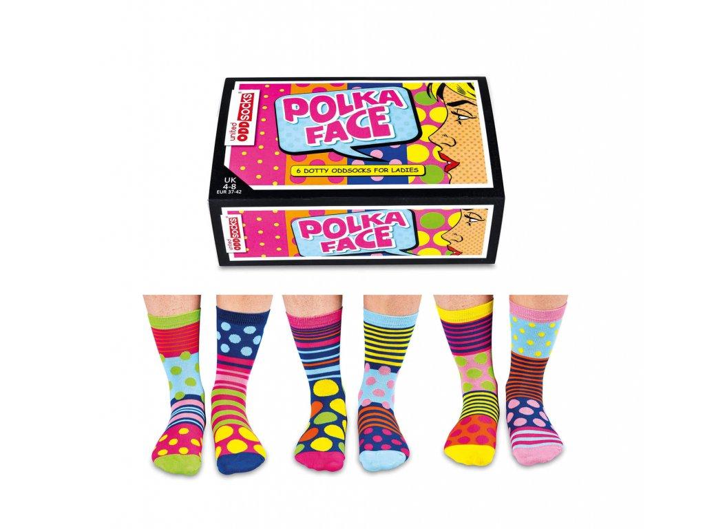 Veselé ponožky Polka Face veľ.: 37-42