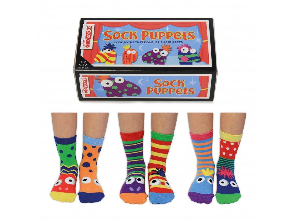 Detské veselé ponožky The Sock Puppets veľ.: 27-30