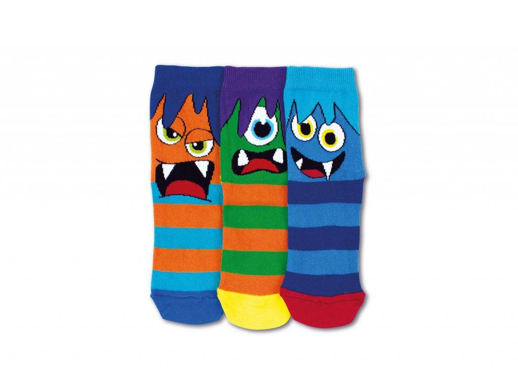 Detské veselé ponožky Creatures 3ks veľ.: 27-30
