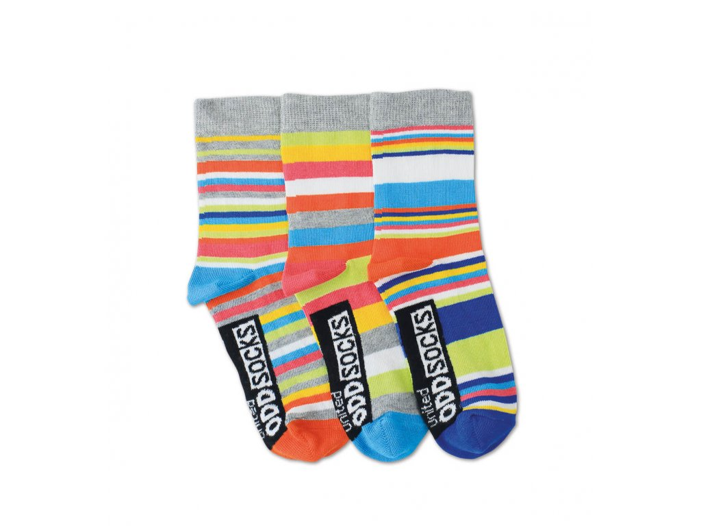 Detské veselé ponožky Rainbow 3ks veľ.: 27-30