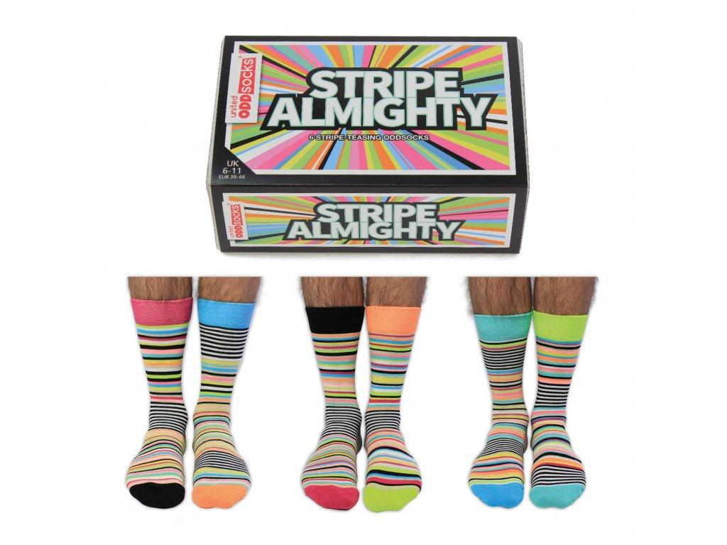 Veselé ponožky Stripe Almighty veľ.: 39-46