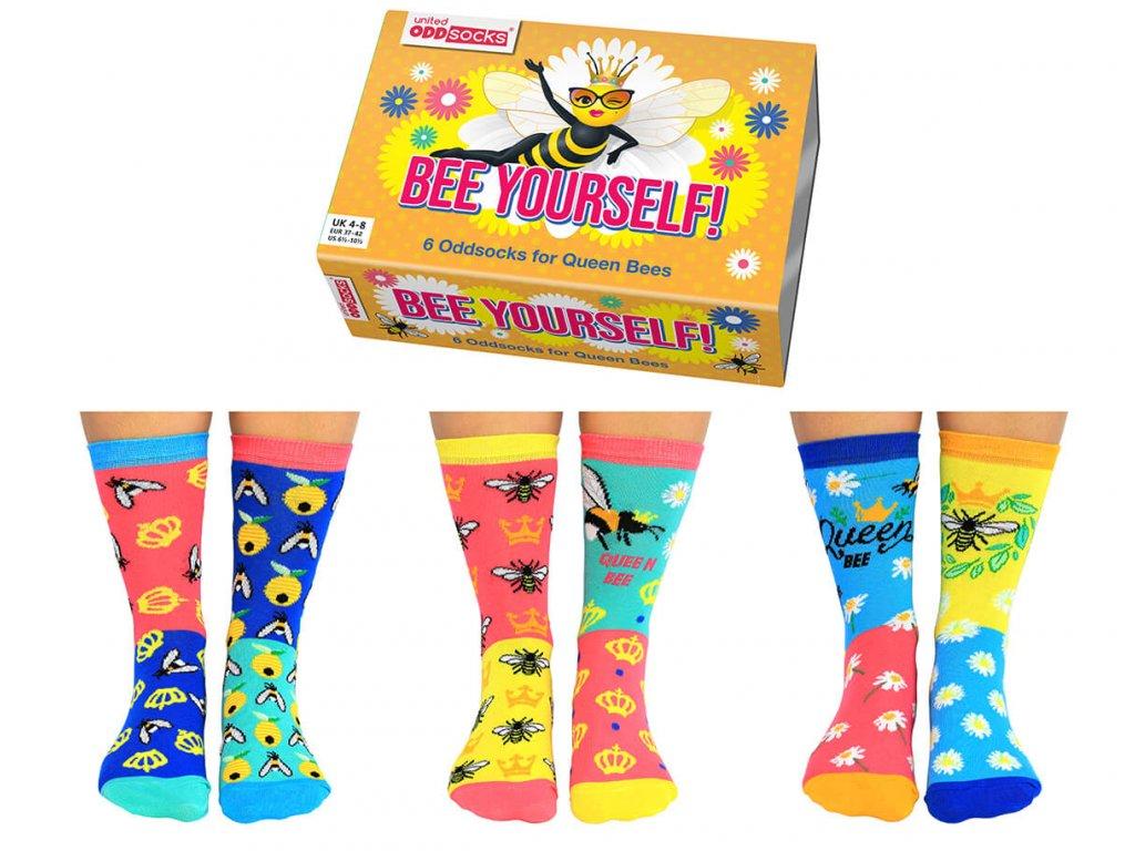 Veselé ponožky Bee Yourself! veľ.: 37-42 od firmy United Odd Socks