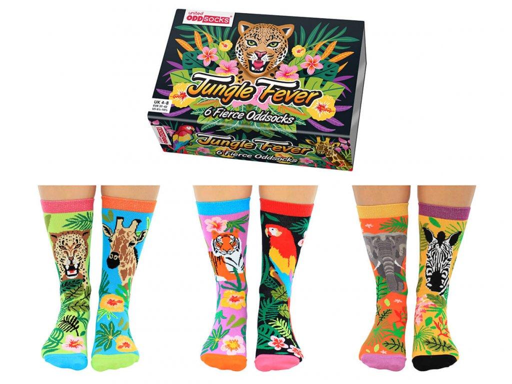 vesele ponozky dzungla jungle fever