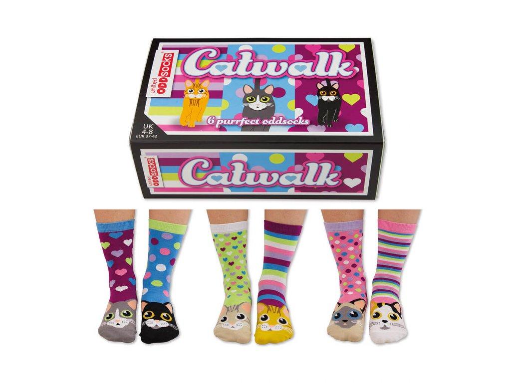 Veselé ponožky Catwalk veľ.: 37-42