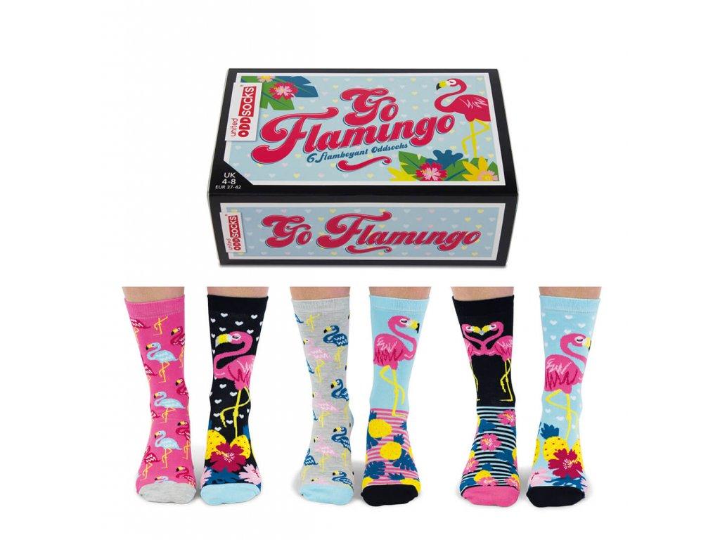 Veselé ponožky Go Flamingo veľ.: 37-42