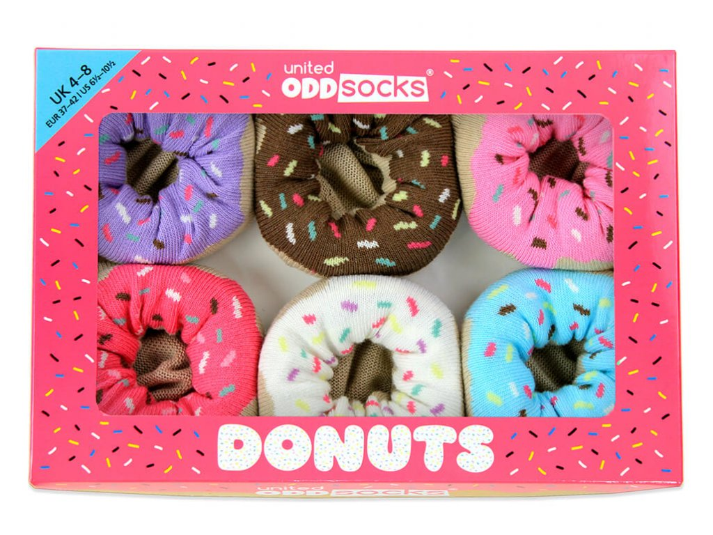 Veselé ponožky Donuts veľ.: 37-42
