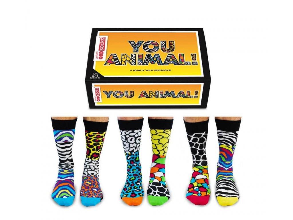 Veselé ponožky You Animal! veľ.: 39-46