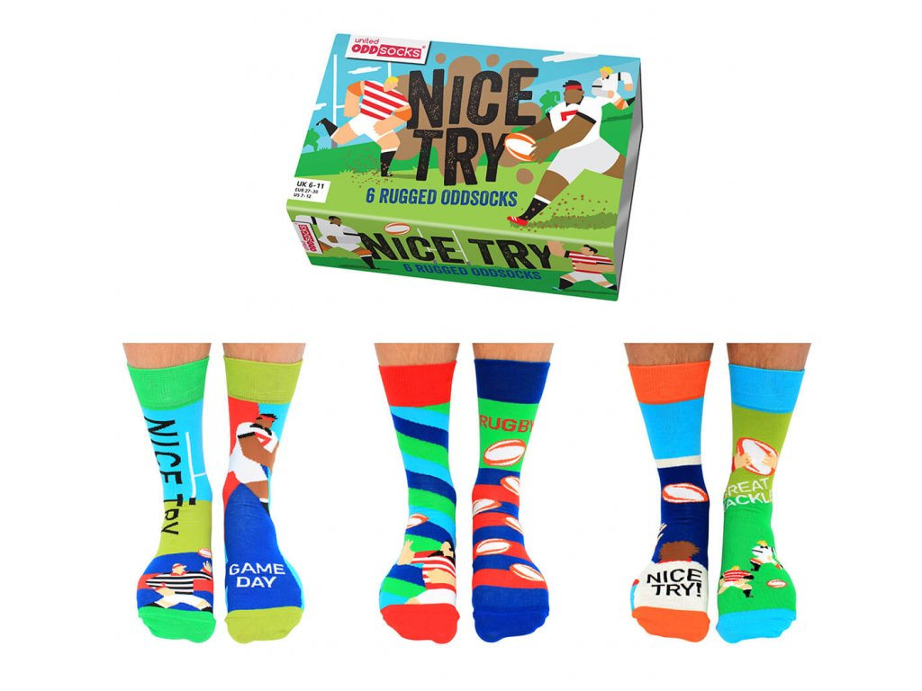 Veselé ponožky Nice Try veľ.: 39-46